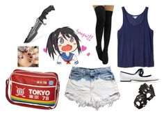 """""""Yandere Chan"""" by alexkaity ❤ liked on Polyvore featuring Monki, Levi's, Marc Jacobs and Aspinal of London"""