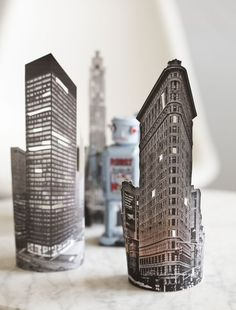 DIY: paper city lights