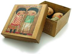 20090218 Love Love Love Dolls And Box by Danita Art, via Flickr