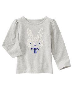 Bunny Long Sleeve Tee at Gymboree (Gymboree 3m-5T)