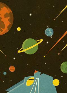 Astro Cat dreaming - BEN NEWMAN