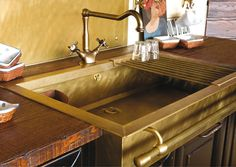 Check out our selections of sinks in solid brass, copper and stainless steel.