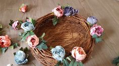 a step by step guide to creating your own flower nest photography prop.