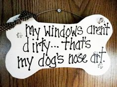 Dogs nose art sign dog bone on wood by kpdreams on Etsy, $10.00
