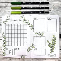 Looking for the best bullet journal ideas for your bujo? Here is a beautiful simple and easy bullet journal plants theme that is perfect for you. Bullet Journal School, Bullet Journal Inspo, March Bullet Journal, Bullet Journal Headers, Bullet Journal Lettering Ideas, Bullet Journal Notebook, Bullet Journal Aesthetic, Journal Ideas, Monthly Bullet Journal Layout