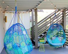 Neon Color | Macrame Chair | Interior Design | Decor Trend