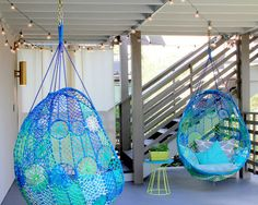 Neon Color | Macrame Chair | Interior Design | Decor Trend