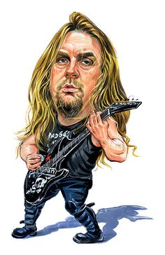 Jeff Hanneman by Art   - Jeff Hanneman Painting - Jeff Hanneman Fine Art Prints and Posters for Sale
