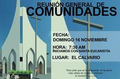 Reunión General de comunidades, te esperamos no faltes!!
