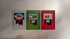 Kerstkaart met Here comes Santa Claus (Doodlebug)