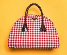 c752bde5c88b6 prada gingham handbag miuccia prada bastille day brigitte bardot Red  Gingham