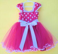 MINNIE MOUSE disfraz Tutu Vestido de partido caliente rosa