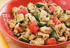 Grilled Chicken and Veggie Tortellini recipe by Miedema Produce