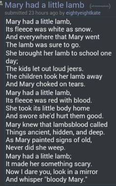 Mary had an FTL, its pace was fast and brisk; Mary is a little fool, her little * Isaac Asimov