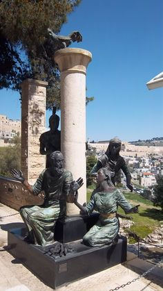 """The """"Peter's Denial"""" Statue Located at the Saint-Peter-in-Gallicantu Church, Built On The Slopes of Mount Zion"""