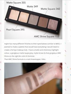 Inglot Freedom System Matte and Pearl