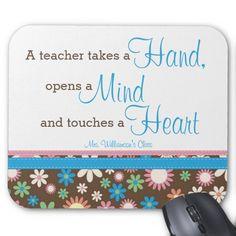 Floral Mousepad for Teacher