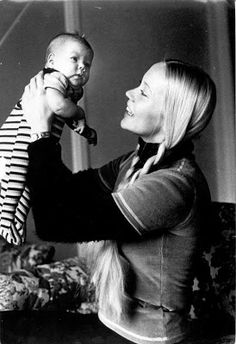 Agnetha as a mother in 1973-Linda Elin Ulvaeus