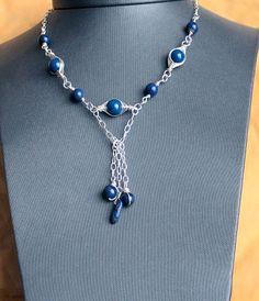 Lapis Lazuli Silver Necklace