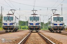 [DE] DB Cargo presents: the 'European Vectron Trio' – Railcolor News Impressive Image, Locomotive, Trains, Two By Two, Electric, Germany, Presents, World, News