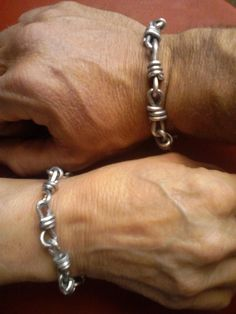 Aluminum Bling Bling.  I'm always looking for men's jewelry ideas.  Do the guys like this? (In sterling though)