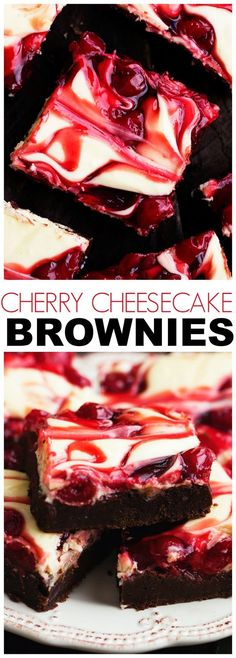 Cherry Cheesecake Brownies are one of the BEST brownies you will make! Three amazing desserts combine in one to bring you a creamy delicious and rich brownie!(Dessert Recipes To Try) Best Brownies, Cheesecake Brownies, Cherry Brownies, Brownie Cherry Cheesecake Recipe, Cherry Cheescake, Coconut Brownies, Strawberry Brownies, Cheesecake Crust, Fudge Brownies