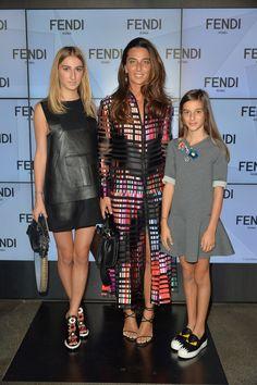 Carolina, Elisabetta and Allegra Beccari at the Fendi Spring/Summer 2016 runway show
