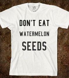 Essen Sie nicht Wassermelone Samen UmstandsShirt. von TheAvenueL, $18.99