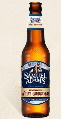 Cerveja Samuel Adams White Christmas, estilo Witbier, produzida por Boston Beer Company, Estados Unidos. 5.8% ABV de álcool.