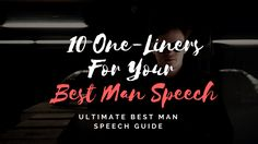 From sentimental to serving up great one-liners, our best man speech examples will help get those creative juices flowing & save you time! Brother Best Man Speech, Best Man Speech Examples, Great One Liners, One Liner Jokes, Wedding Toast Samples, Best Wedding Speeches, Maid Of Honor Speech, Wedding Toasts, Wish You The Best