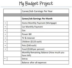 Budget Project Template  Rubric  Rubrics Template And Middle