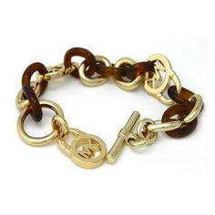 Michael Kors Outlet !Michael Kors Logo Locks Golden Bracelets-$9.99 !