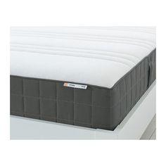 HÖVÅG Materac, sprężyny kieszeniowe - 90x200 cm, twardy/ciemnoszary - IKEA