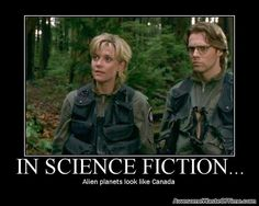Which is interesting, because at least some of your space scientists/military come from Canada. Well, well.