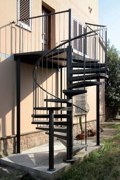 All welded units, no assembly required here-American made spiral stairs www.spiralstairsofamerica.com