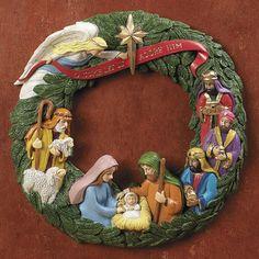 Christmas Nativity wreath.