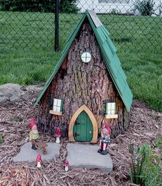 30 Gnome Homes.. If there's ever that lonely ugly stump in my yard.