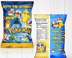 Check out our pokemon party favors selection for the very best in unique or custom, handmade pieces from our shops. Birthday Party Decorations, Party Favors, Party Themes, Themed Parties, Pokemon Themed Party, Pokemon Birthday, Pokemon Snacks, Pokemon Party Supplies, Pokemon Cake Topper