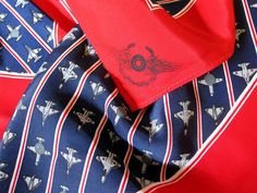 Vintage Airplane Air Force Scarf Red White Blue by sweetie2sweetie
