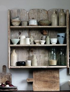 DIY idea for that old fence panel in the yard? Love this little shelf.... Imperfect Home by Mark & Sally Bailey