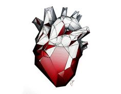 """Check out new work on my @Behance portfolio: """"Ruby Red Heart"""" http://on.be.net/1NROGO7"""