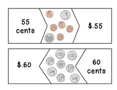 Here's a set of coin counting puzzles in 5 cent increments from 5 cents to 1 dollar.