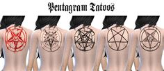 by ladyhayny - 5 Pentagram Tatoos