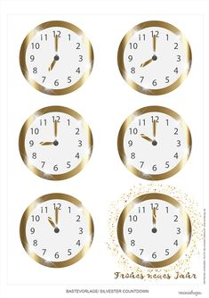 Years Countdown clock to print -New Years Countdown clock to print - Sylvester Uhren zum ausdrucken Clock Inserts: Mini Quartz Clock Inserts New Year's Eve Countdown, Countdown Clock, New Year Clock, French Country Christmas, Decoration Chic, Bmw Autos, Decorating Bookshelves, Diy Crafts To Do, Nouvel An
