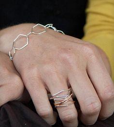 Gold Hexagon Nest Ring
