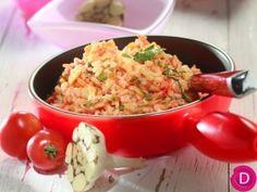 Dina Nikolaou - Garlic rice with tomato - Ντοματόρυζο σκορδάτο Pizza, Guacamole, Pasta Salad, Potato Salad, Macaroni And Cheese, Garlic, Appetizers, Rice, Meat