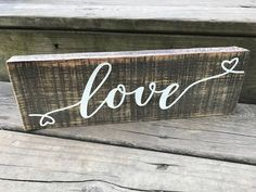 Rustic Arrow Love Wood Sign - Rustic Wooden Arrow - Arrow Wall Decor - Wood Love SIgn - Inspirational Sign - Farmhouse Sign - Table Sign by BarefootPickins on Etsy
