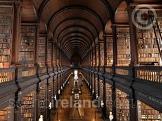Old Library at Trinity College - adding this to one of the places I want to see should I ever make it to dear ol' Ireland! :) #ireland #travel