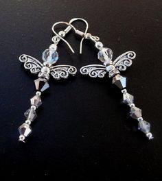 Genuine Swarovski Black And Silver AB Crystal by IslandGirl77