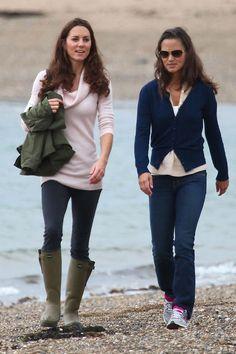 Kate-Middleton con botas de Agua Le Chameau